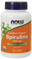 Спирулина NOW Spirulina 500 мг 200 таб